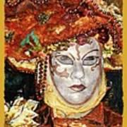 Carnivale Mask #12 Art Print