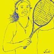 Caroline Wozniacki Art Print