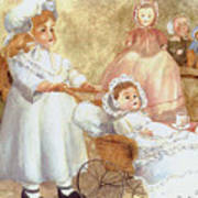 Caroline's Dolls Art Print