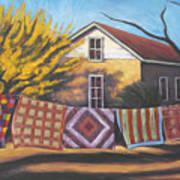 Carolines Quilts Art Print