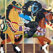 Carousel Beauties Art Print