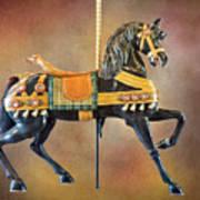 Carousel Black Stallion Body Art Print
