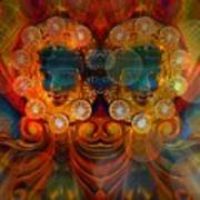 Carousel Faces, Twins Art Print