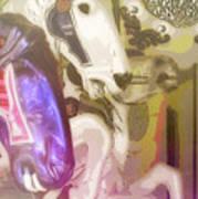 Carousel Gallop Art Print