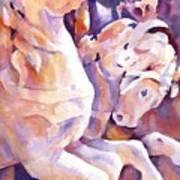 Carousel Horses Art Print by Joan  Jones
