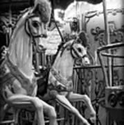 Carousel Horses No. 1 Art Print
