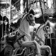 Carousel Horses No.2 Art Print
