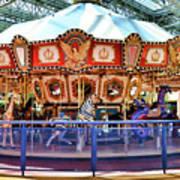 Carousel Inside The Mall Art Print