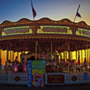 Carousel Sunset Art Print