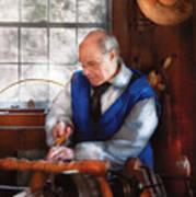 Carpenter - The Woodturner Art Print