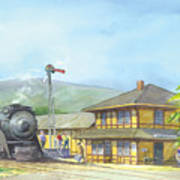 Carpinteria Train Depot Art Print