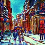 Carriage Ride Through The Old City Art Print