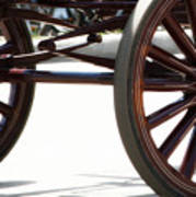 Carriage Wheels Art Print