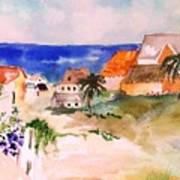 Carribean Village Art Print
