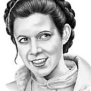 Carrie Fisher Art Print