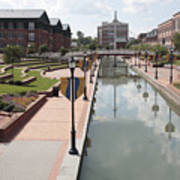 Carroll Creek Park In Frederick Maryland Art Print