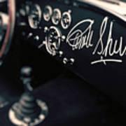 Carroll Shelby Signed Dashboard Art Print