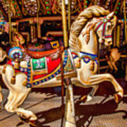 Carrousel Horse Ride Art Print