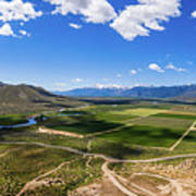 Carson Valley Panorama Art Print