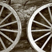 Cart Wheels Art Print