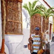 Cartagena Peddler I Art Print