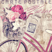 Carte Postale Bicycle Art Print