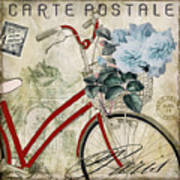 Carte Postale Vintage Bicycle Art Print