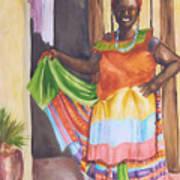 Cartegena Woman Art Print