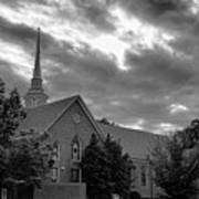 Carter Chapel Bridgewater College Va - Bw 1 Art Print