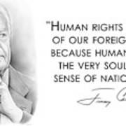 Carter On Human Rights Art Print