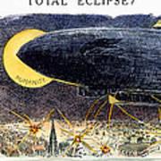 Cartoon: Airship Raid 1914 Art Print