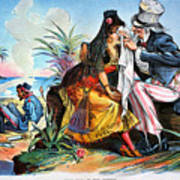 Cartoon: Cuba, 1895 Art Print