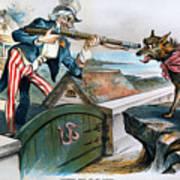 Cartoon: Panic Of 1893 Art Print