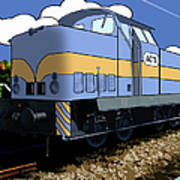 Illustrated Train Art Print