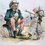 Cartoon: Uncle Sam, 1893 Art Print