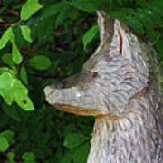 Carved Dogs Head Art Print