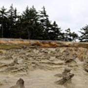 Carved Sandstone Along The Oregon Coast - 2 Art Print