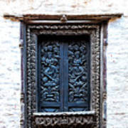 Carved Window Shutters Art Print