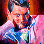 Cary Grant - Debonair Art Print by David Lloyd Glover