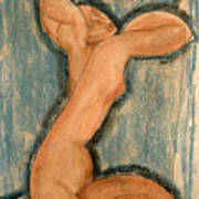 Caryatid Print by Amedeo Modigliani