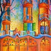 Barcelona Casa Batilo Art Print
