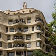 Casa Mila In Barcelona, Spain Art Print