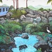 Casa Tropical Art Print