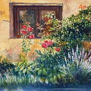 Casale Grande Rose Garden Art Print