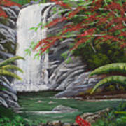 Cascada Tropical Art Print