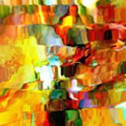 Cascade De Couleurs Art Print