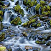 Cascade Of Many Waters Art Print