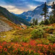 Cascade Pass Fall Art Print by Inge Johnsson