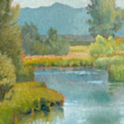 Cascade Pond Art Print
