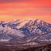Cascade Ridge Sunrise Art Print